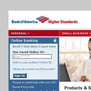 Bank of America Home Page Redesign