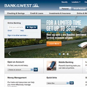 Bank of the West Homepage